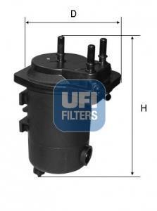 24.098.00 UFI Топливный фильтр