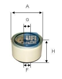 24.338.00 UFI Топливный фильтр