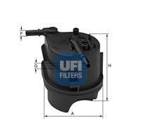 24.343.00 UFI Топливный фильтр