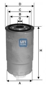 24.384.00 UFI Топливный фильтр