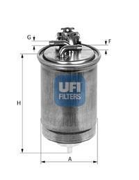 24.400.00 UFI Топливный фильтр