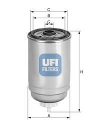 24.414.00 UFI Топливный фильтр
