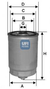 24.441.00 UFI Топливный фильтр