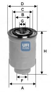 24.452.00 UFI Топливный фильтр