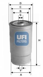 24.460.00 UFI Топливный фильтр