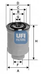 24.465.00 UFI Топливный фильтр
