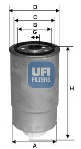 24.528.01 UFI Топливный фильтр