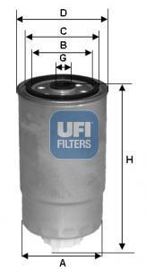 24.529.00 UFI Топливный фильтр