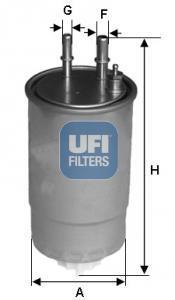 24.ONE.0B UFI Топливный фильтр