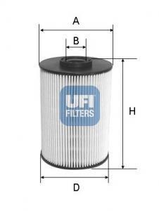 26.037.00 UFI Топливный фильтр