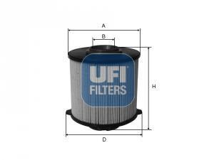 26.058.00 UFI Топливный фильтр