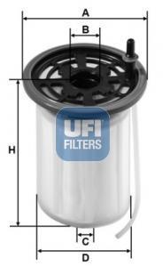 26.079.00 UFI Топливный фильтр