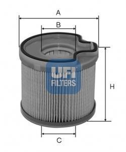 26.691.00 UFI Топливный фильтр