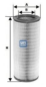 27.397.00 UFI Воздушный фильтр