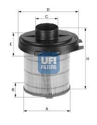 27.845.02 UFI Воздушный фильтр