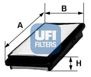 30.347.00 UFI Воздушный фильтр