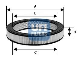30.802.01 UFI Воздушный фильтр