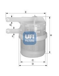 31.020.00 UFI Топливный фильтр