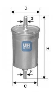 31.722.00 UFI Топливный фильтр