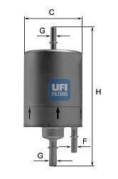 31.830.00 UFI Топливный фильтр