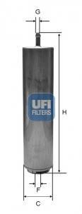 31.952.00 UFI Топливный фильтр