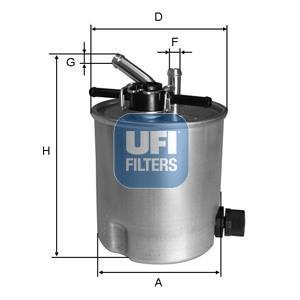 55.394.00 UFI Топливный фильтр