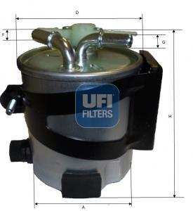 55.418.00 UFI Топливный фильтр