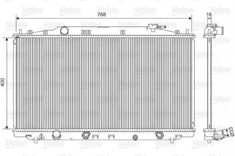 Радиатор системы охлаждения 701551