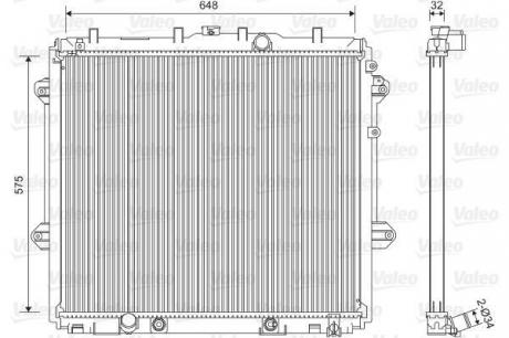 Радиатор системы охлаждения 701555