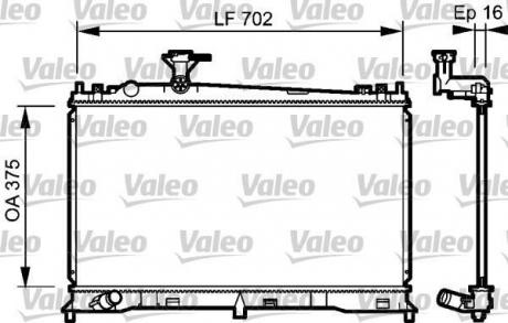 Радиатор системы охлаждения 735053