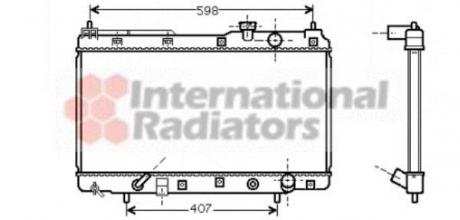 Радиатор охлаждения двигателя CR-V 2.0i-16V MT/AT 97- (Van Wezel) 25002104