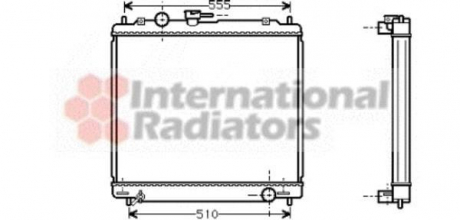 Радиатор охлаждения MITSUBISHI PAJERO (V10, 40) (90-) 2.8 TD (пр-во Van Wezel) 32002109
