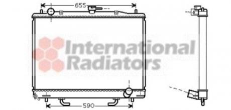 Радиатор охлаждения MITSUBISHI PAJERO4 32TD AT +/-AC 99- (пр-во Van Wezel) 32002163