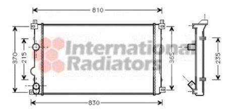 Радиатор охлаждения OPEL MOVANO A (98-)/RENAULT MASTER II (пр-во Van Wezel) 43002322