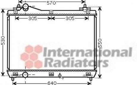 Радиатор охлаждения SUZUKI GRAND VITARA 2,0; 2,4 MT (пр-во Van Wezel) 52002104