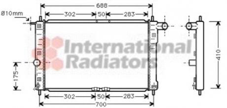 Радиатор охлаждения DAEWOO LANOS (97-) 1.3-1.6 i (Van Wezel) 81002014