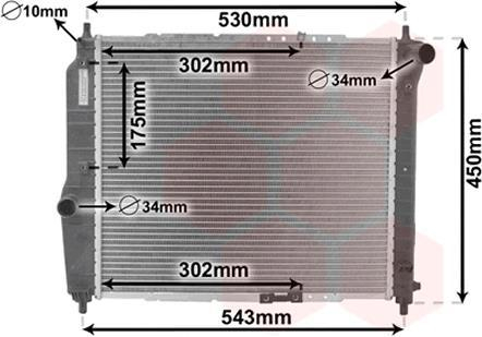Радиатор охлаждения AVEO 12/12 MT +-AC 1.5 (Van Wezel) 81002066