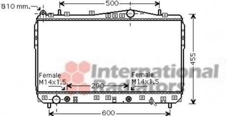 Радиатор охлаждения двигателя NUBIRA/LACETTI AT 03- 1.6-1.8 (Van Wezel) 81002074