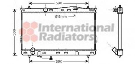 Радиатор охлаждения HYUNDAI TRAJET (FO) (99-) 2.0-2.7 (пр-во Van Wezel) 82002077