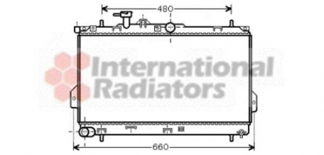 Радиатор охлаждения HYUNDAI MATRIX (FC) (01-) 1.6 i (пр-во Van Wezel) 82002097