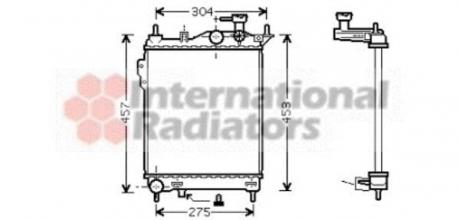 Радиатор охлождения HYUNDAI GETZ (TB) (02-) 1.1-1.6i MT (пр-во Van Wezel) 82002099