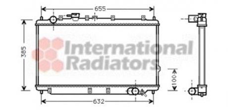 Радиатор охлаждения двигателя KIA SEPHIA/SHUMA MT 96- (Van Wezel) 83002016