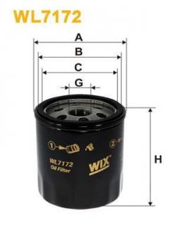 Фильтр масляный WL7172
